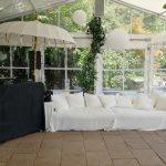 Wedding Setup mit schwarzer Verkleidung